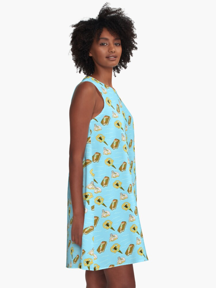 Alternate view of Foodie Pool Party A-Line Dress