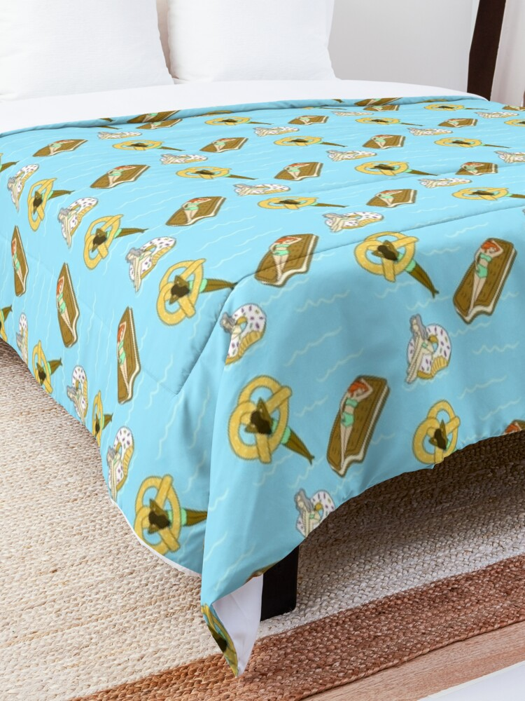 Alternate view of Foodie Pool Party Comforter
