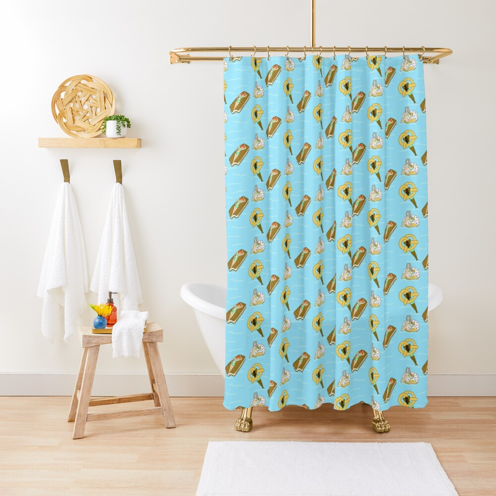Foodie Pool Party Shower Curtain