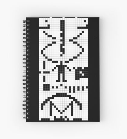 Arecibo Message 001 Spiral Notebook