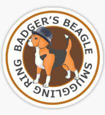 Badger's Beagle Smuggling Ring V2.0 Sticker