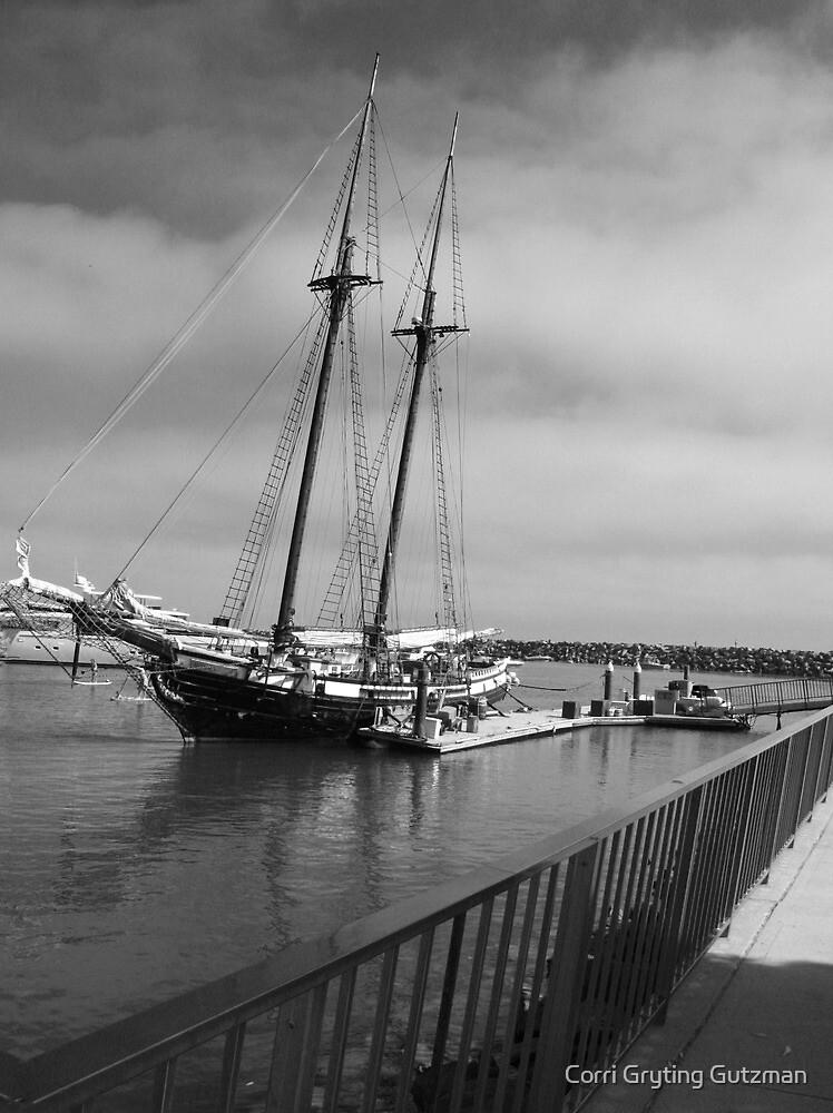 Clipper Type Ship at Dana Point Harbor by Corri Gryting Gutzman
