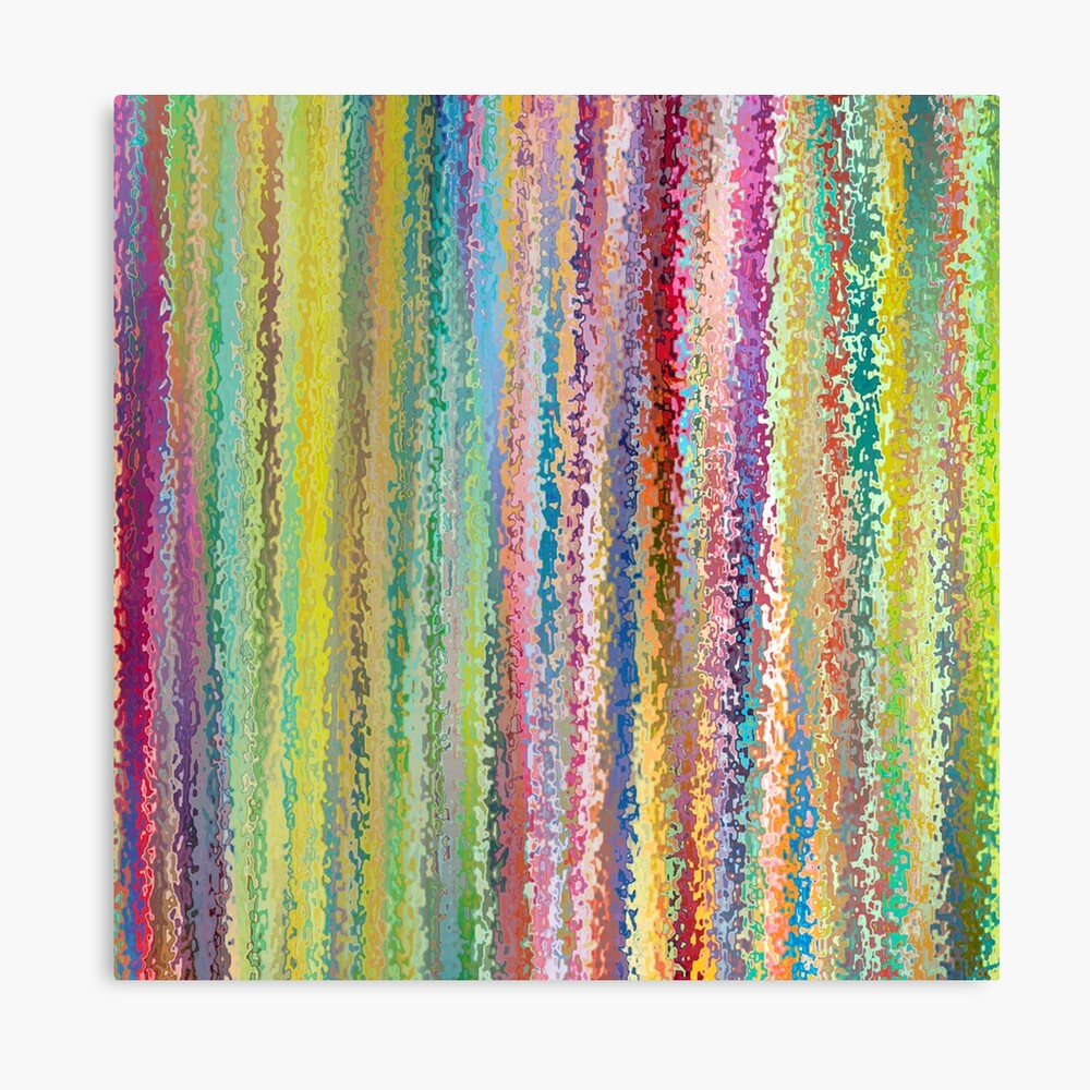 Rainbow Bright Jungle Stained Glass Stripes Canvas Print