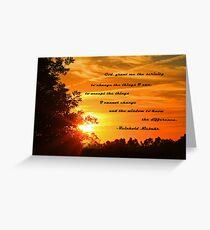 Serenity Prayer Card Greeting Card