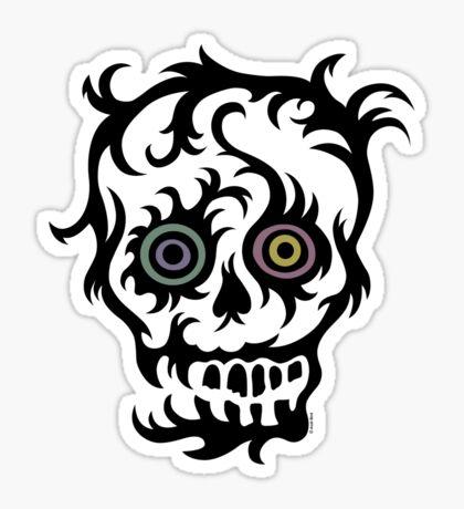 Skull Tattoo - on lights Sticker