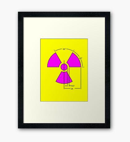 Warning Radiation Sign Template Framed Print