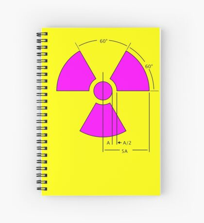 Warning Radiation Sign Template Spiral Notebook