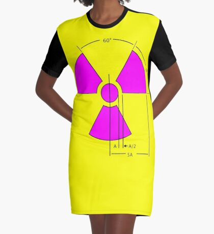 Warning Radiation Sign Template Graphic T-Shirt Dress