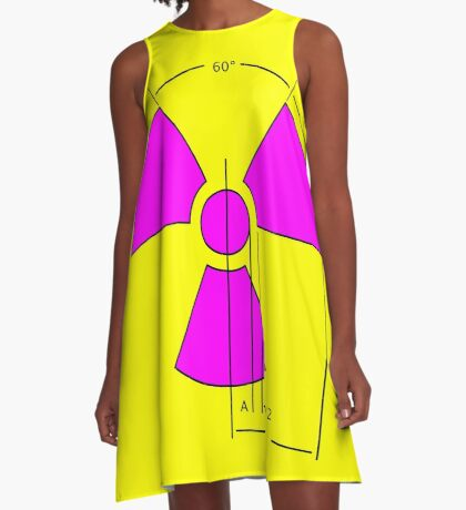 Warning Radiation Sign Template A-Line Dress