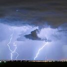 Lightning Striking Firestone Colorado 1 by Bo Insogna