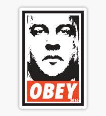OBEY: CHRIS CHRISTIE Sticker