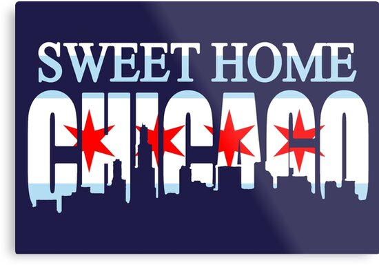 Sweet Home Chicago Flag Skyline by frittata
