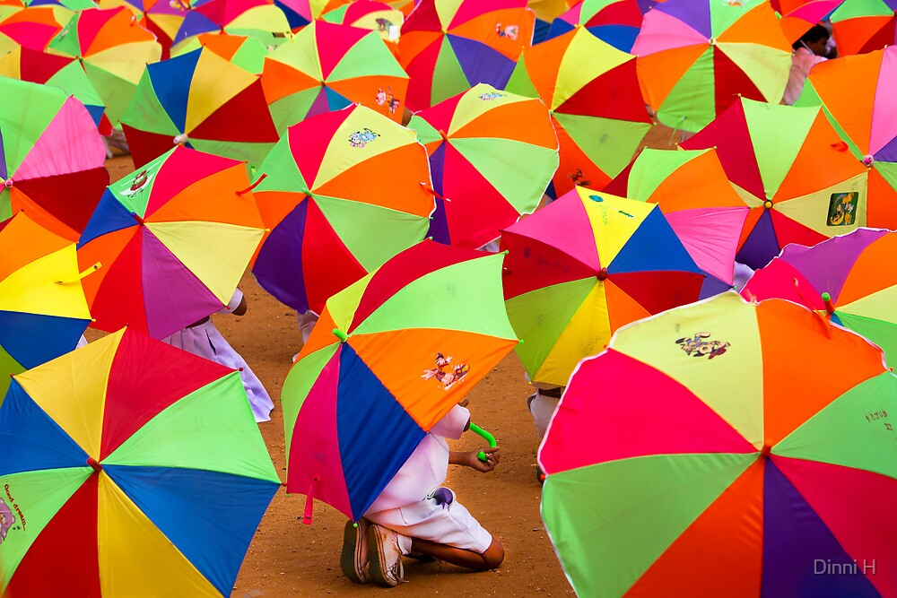 under my umbrella!! by Dinni H