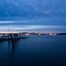 View of Oslo City lights from Nakkholmen by Kathey  Sweeney