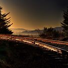 Tracks at the coast by pdsfotoart