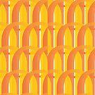 Fun with Typography in Yellow and Orange by Sonia Keshishian