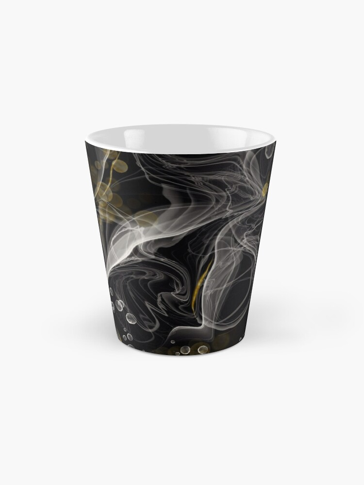 Alternate view of Monochrome and gold alcohol inks Mug