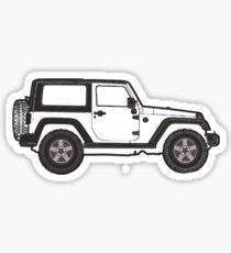 Pegatina jeep blanco