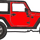 red jeep by Katie's Stickers