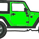 green jeep by Katie's Stickers