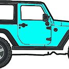 teal jeep by Katie's Stickers