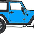 blue jeep by Katie's Stickers