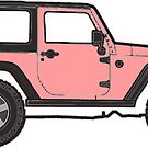 light coral jeep by Katie's Stickers