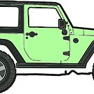 light green jeep by Katie's Stickers