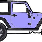 light purple jeep by Katie's Stickers