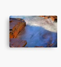 Warriewood blow hole Canvas Print