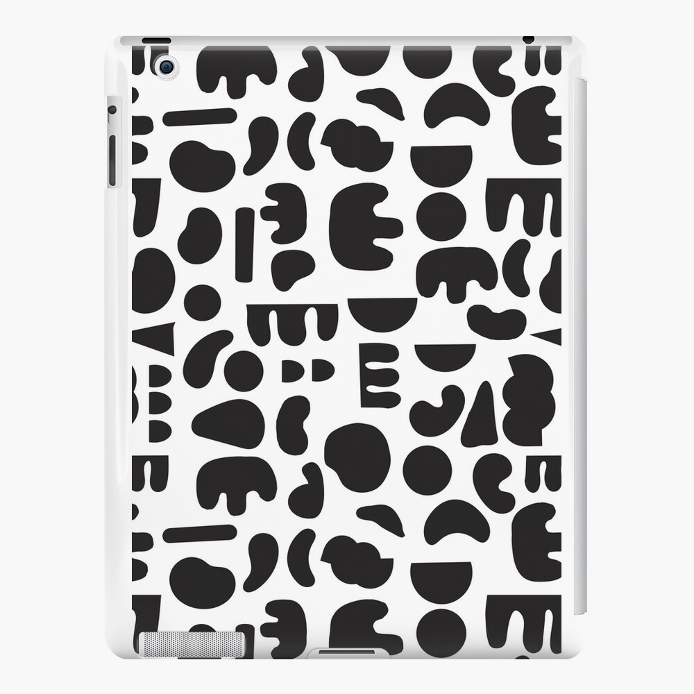 Black and white - abstract pattern dance iPad Cases & Skins