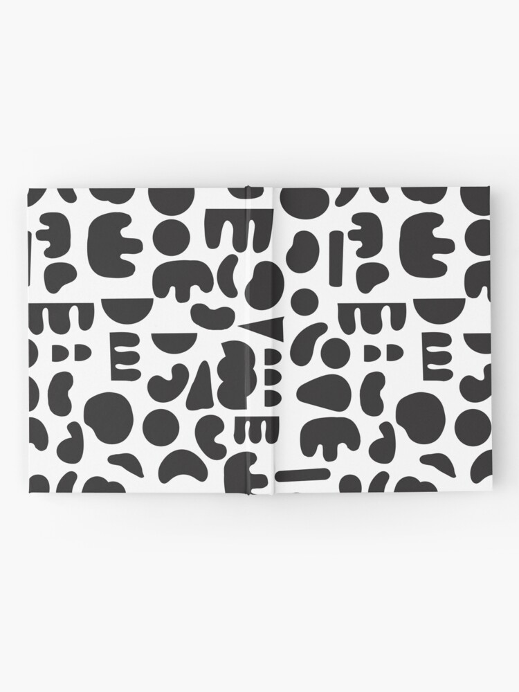 Alternate view of Black and white - abstract pattern dance Hardcover Journal