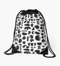 Black and white - abstract pattern dance Drawstring Bag