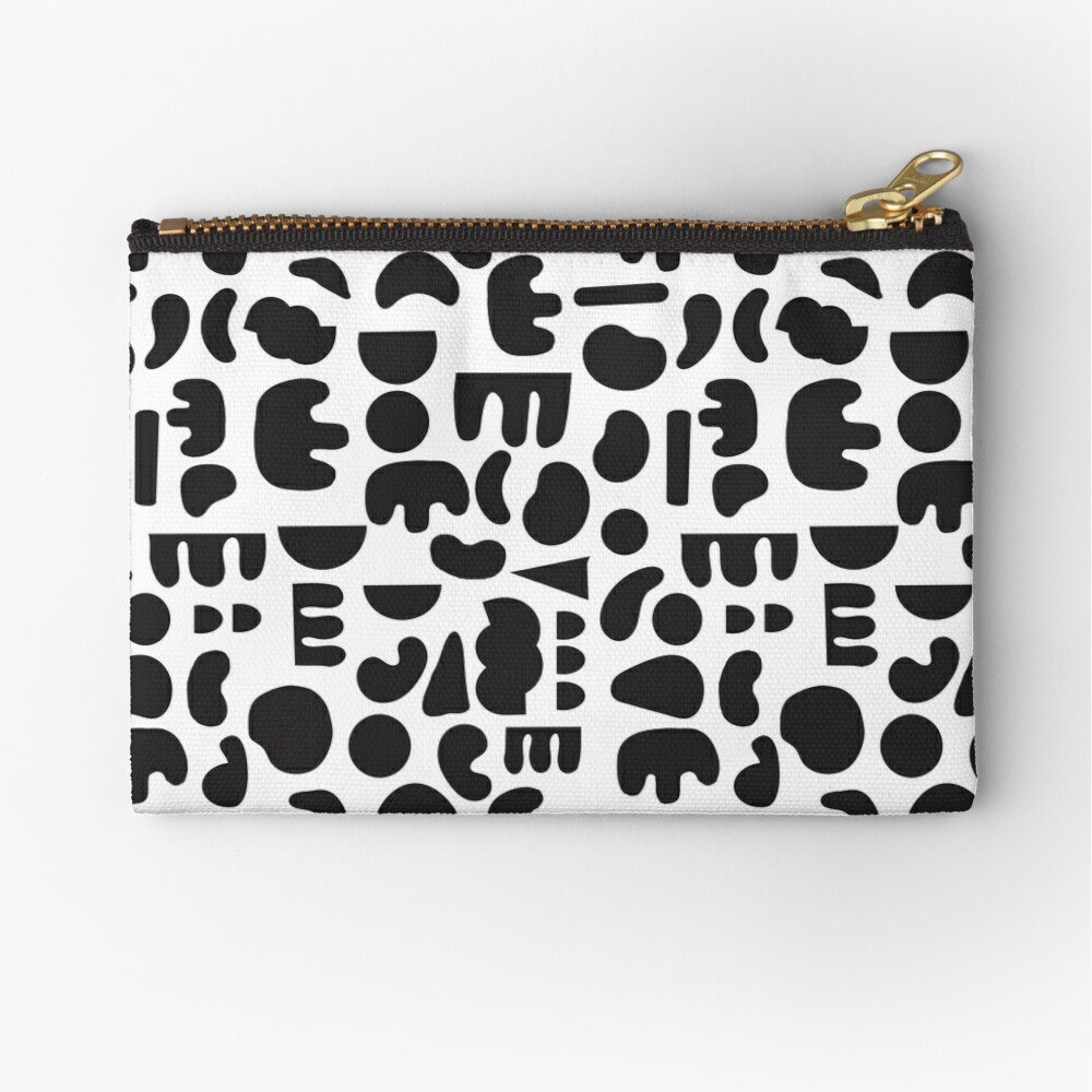 Black and white - abstract pattern dance Zipper Pouch