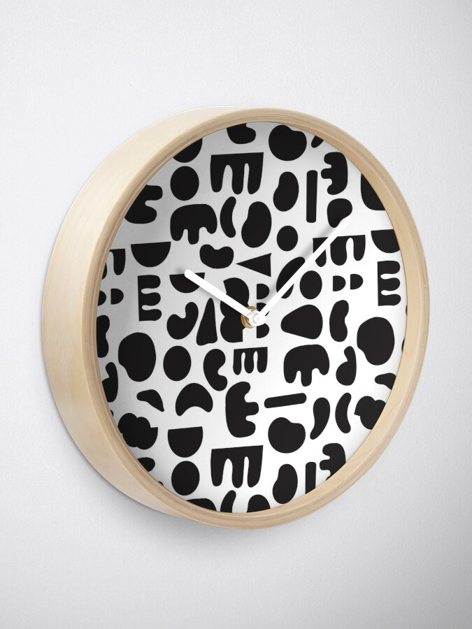 Alternate view of Black and white - abstract pattern dance Clock