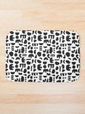 Black and white - abstract pattern dance Bath Mat