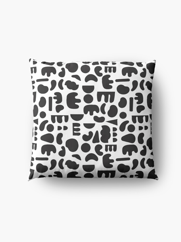 Alternate view of Black and white - abstract pattern dance Floor Pillow