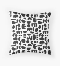 Black and white - abstract pattern dance Floor Pillow