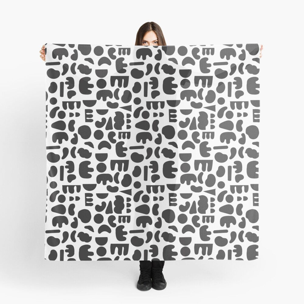 Black and white - abstract pattern dance Scarf