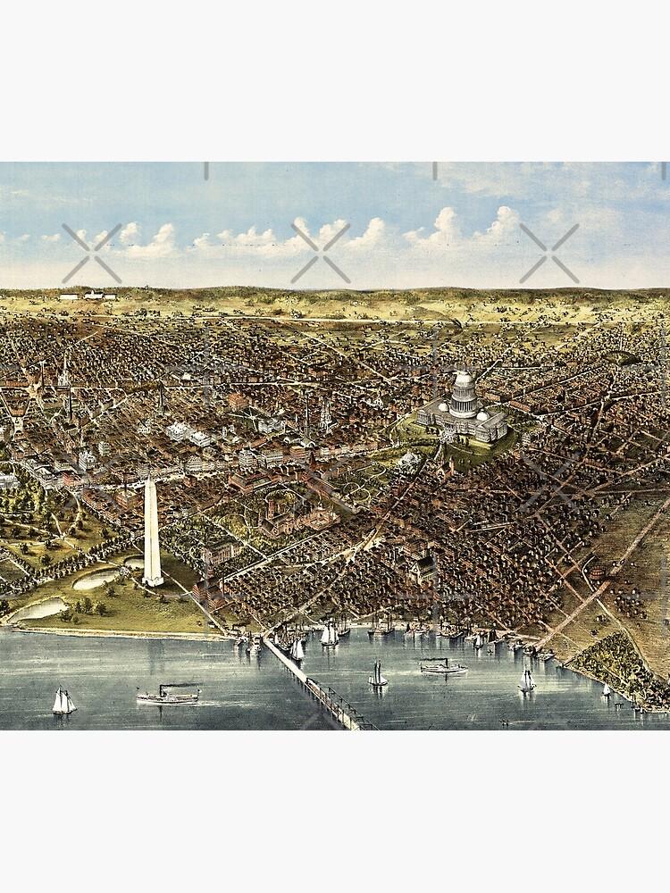 1892 bird's eye view of Washington by DC-Confidential