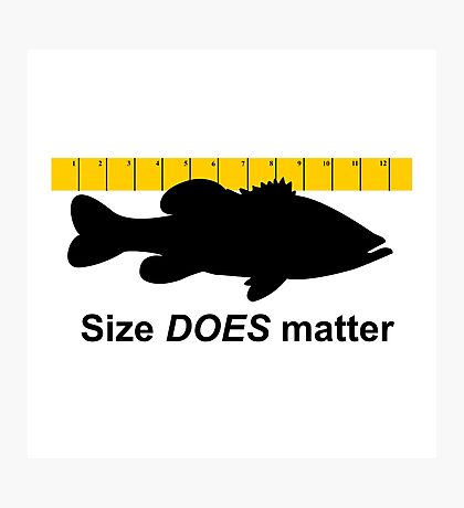 Size Does Matter Photographic Print