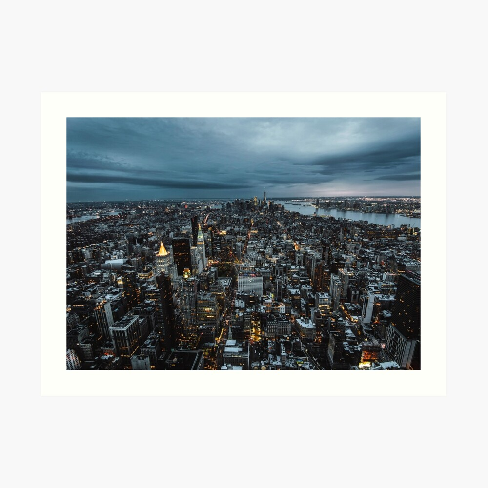 Nueva York en la noche Lámina artística