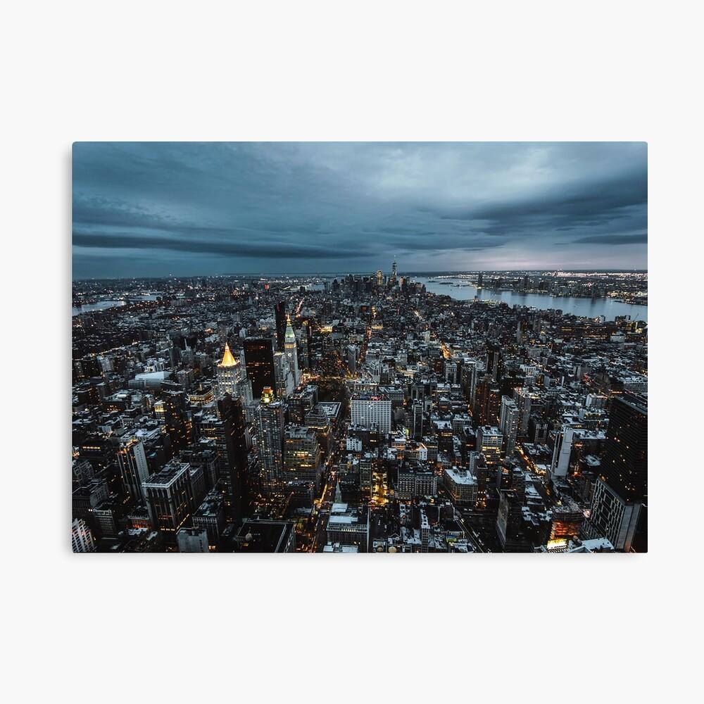Nueva York en la noche Lienzo