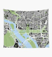 Map of Washington, DC Wall Tapestry
