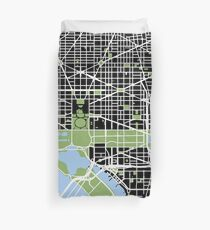 Map of Washington, DC Duvet Cover