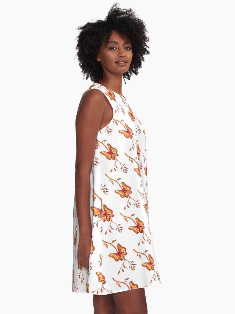 Alternate view of Golden Butterfly A-Line Dress