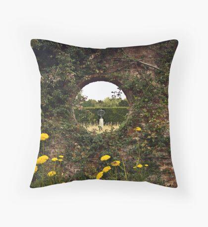 Through the Garden Wall Throw Pillow