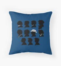 Eleven Doctors Throw Pillow