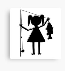 Reel Girl's Fish Canvas Print