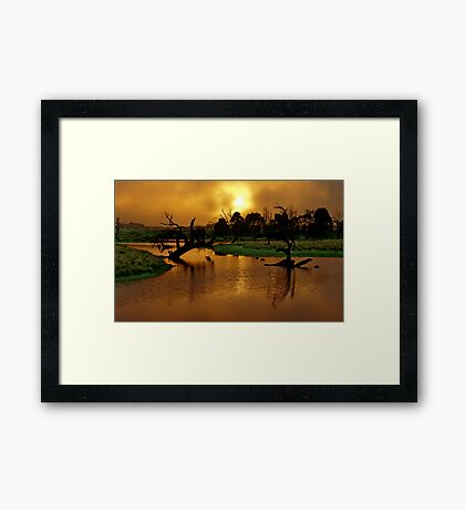 """Copper Dawn"" Framed Print"